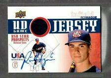 2009 Upper Deck #GJU-30 Rick Hague USA Jersey Signed Autograph (PP104) SWSW