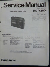 Original Service Manual  Panasonic Radio Cassett RQ-V200