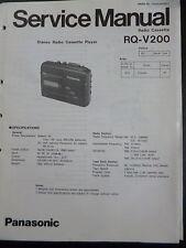 Original Service Manual  Panasonic Radio Cassett RQ-V200