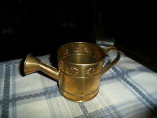 Vintage Hosley Brass Flowered minature Watering Can Pitcher Cute !