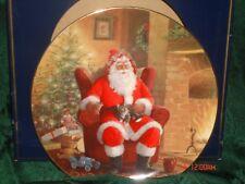 "Royal Doulton ""Well-Earned Break"" Santa Plate"