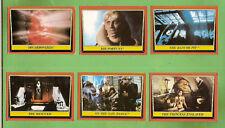 #D100. 1983 STAR WARS  RETURN OF THE JEDI SCANLENS CARDS #28, 29, 12, 40, 36, 32