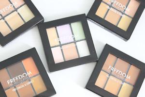 FREEDOM MAKEUP Pro Conceal & Correct Palette -6 Super Blendable Concealer Creams
