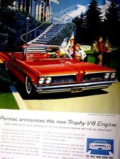 1961 Pontiac Bonneville Sports Coupe-Fitz & Van Art Original Print Ad-8.5 x 11""