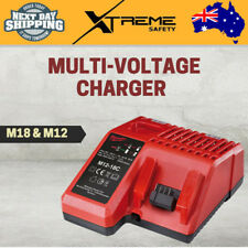 New Milwaukee M18 and M12 Multi Voltage Battery Rapid Charger Dual Port Station