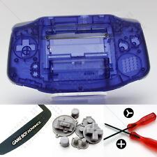 New Clear Purple Nintendo Game Boy Advance GBA Case/Shell/Housing & Tools DIY