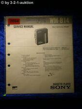 Sony Service Manual WM B14 Cassette Player (#2094)