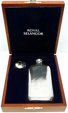 Royal Selangor 3oz Pewter Hip Flask in Deluxe Wooden Gift Box withFree Engraving