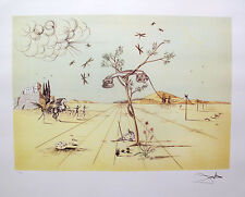Salvador Dali TELEPHONE IN THE DESERT Signed Limited Edition Lithograph Art