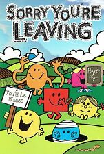 SORRY YOU'RE LEAVING - Quality official Mr Men and Little Miss Card
