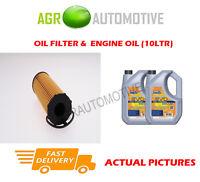 DIESEL OIL FILTER + LL 5W30 ENGINE OIL FOR AUDI A6 QUATTRO 2.7 179BHP 2005-08