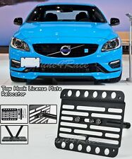 For 11-18 volvo s60 Front bumper Tow Hook License Plate Bracket relocator Mount