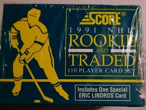 1991 Score ROOKIE & TRADED Hockey SET 110 Cards ERIC LINDROS sealed Kurri Fuhr+