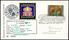 Austria 1976 Christmas Christkindl Balloon Post Cover #C18353