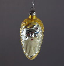 Vintage blown glass Ornament - Santa Face in Pine Cone - ca. 1930  (# 8888)