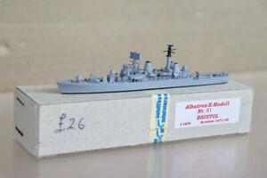 ALBATROS K MODELL 81 HMS BRISTOL D23 TYPE 82 DESTROYER SHIP MINT BOXED oa