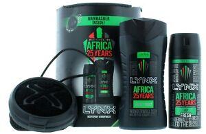 LYNX Africa 25 Years Manwasher Gift SET Deodorant Shower gel  Valentines present