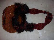 Homemade Patchwork Shoulder Bag Purse Bohemian Hippie Red