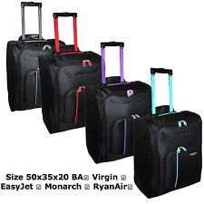 Lightweight Cabin Flight Carry Wheeled Hand Luggage Holdall Travel Suitcase Bag