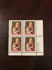 1966 U.S. 5 Cent Stamp (Plate Block #PB401) - Mint #1321 Stamps - Christmas