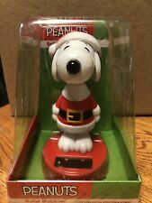 Solar Powered Dancing Toy New - Large Peanuts Snoopy Santa