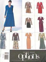 Vogue 2074 Pattern  Flared Skirt  V Neck Wrap Top Var Casual Career Size 20-24