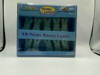NEW PEEPS LIGHT 10 PEEPS EASTER BUNNY STRING LIGHTS LIGHT BLUE BUNNIES
