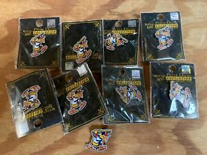 TOLEDO MUDHENS MILB MINER LEAGUE PRO BASEBALL LAPEL PIN LOT OF 9 - MASH KLINGER