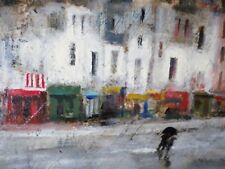 Jacques Voyet (1927-2010) Tableau/Huile- peinture-Sous la pluie-HSP-oil