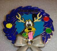 Disney pins Pin 112647 DLR - Disneyland Diamond Wreath - Pluto LE 2000