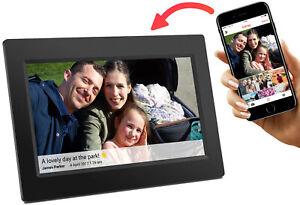 Denver PFF-710Black Frameo 7Zoll Digitaler Bilderrahmen Schwarz WiFi WLAN 8GB