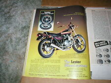 Vintage Kawasaki Z-1 Cycle ad for LESTER WHEELS CAST Alloy