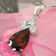 Simulated Silver Plated Ruby Fashion Necklaces & Pendants