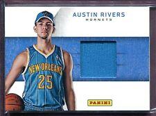 AUSTIN RIVERS ~ 2012-13 Panini Worn Basketball Hat Relic #15 (Rookie)