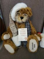 Hermann Annual Christmas Teddy Bear 1999 Jointed Brown Mohair Limited Edition