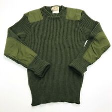 Vintage Cabellas Mens 44 (Small) 100% Wool Sweater Made in England Green (350)