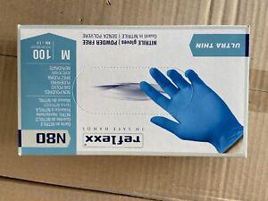 Guanti in nitrile blu grip monouso senza Polvere Taglia M.