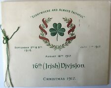 More details for 16th (irish) division wwi christmas greetings card 1917 illustrator j h fletcher