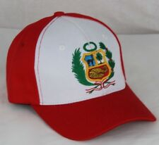 Peruvian hat cap with embroidered nice quality shield size fits most