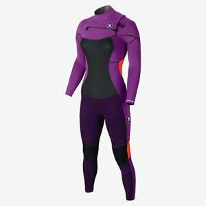 New $380 Womens Hurley Phantom 202 Full Wetsuit Purple Size 6 with Garment Bag