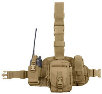 Tactical Drop Leg Utility Rig Modular Pouches Molle Coyote Brown Rothco 11750