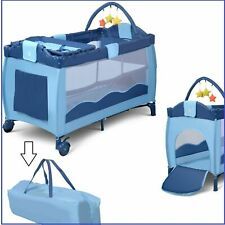 Baby Crib Infant Foldable Bed Portable Bassinet Newborn Playpen Nursery Table