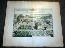 "18th Century Hand Colored Print Map Henbury England  24"" x 21"""
