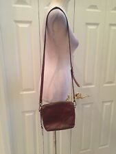 Fossil Cognac Brown Leather Crossbody Bag w/adjustable strap
