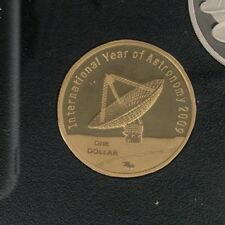 2009 $1 one dollar Proof Coin Int Year of Astronomy in 2 x 2 Excellent coin
