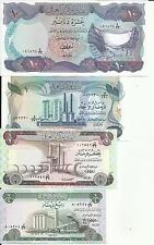 IRAQ LOT SET 10-1-1/2-1/4 DINAR 1973. UNC CONDITION . 4RW 04 OCT