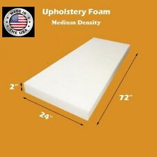 "Medium Density FoamTouch 2"" X 24"" X 72"" Upholstery Foam Cushion - Free Shipping"