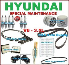 03-05 XG350 V6-3.5L TUNE UP KITS: SPARK PLUGS, WIRE SET, BELTS & FILTERS