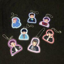 BTS Cartoon Bighit Korean Boyband Group Coated Mini Keychain Cute Gift Good 7pcs