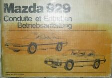 * Mazda 929 + Coupé Betriebsanleitung Manuel Manual 1982 deutsch + francais